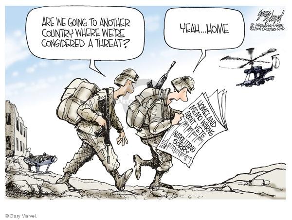 Cartoonist Gary Varvel  Gary Varvel's Editorial Cartoons 2009-04-20 homeland defense