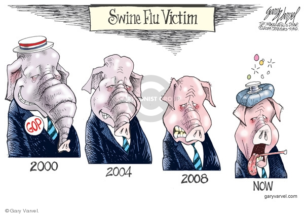 Cartoonist Gary Varvel  Gary Varvel's Editorial Cartoons 2009-04-30 GOP