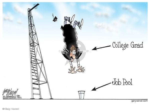 Cartoonist Gary Varvel  Gary Varvel's Editorial Cartoons 2009-05-07 economy