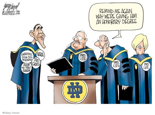Gary Varvel  Gary Varvel's Editorial Cartoons 2009-05-17 cell