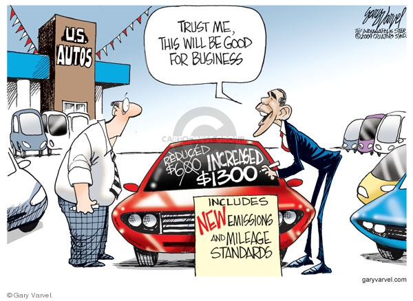 Cartoonist Gary Varvel  Gary Varvel's Editorial Cartoons 2009-05-20 Obama economy