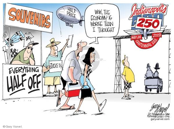Cartoonist Gary Varvel  Gary Varvel's Editorial Cartoons 2009-05-22 economy