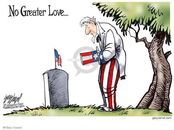 Cartoonist Gary Varvel  Gary Varvel's Editorial Cartoons 2009-05-22 Veterans Day