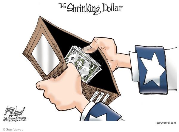 Cartoonist Gary Varvel  Gary Varvel's Editorial Cartoons 2009-05-26 dollar
