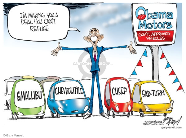 Cartoonist Gary Varvel  Gary Varvel's Editorial Cartoons 2009-05-28 Obama economy