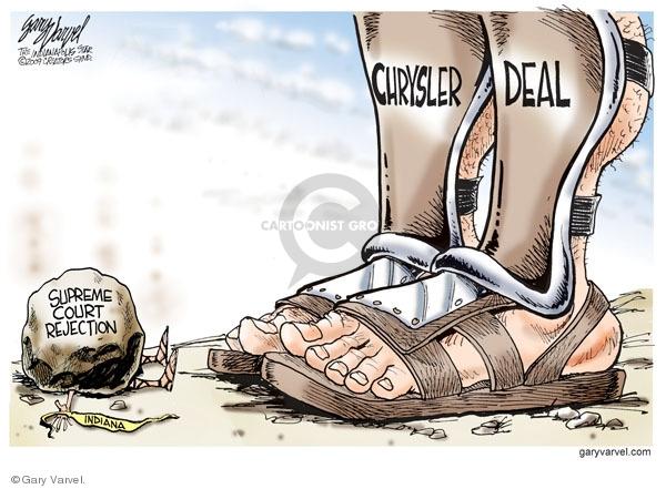 Cartoonist Gary Varvel  Gary Varvel's Editorial Cartoons 2009-06-10 economy