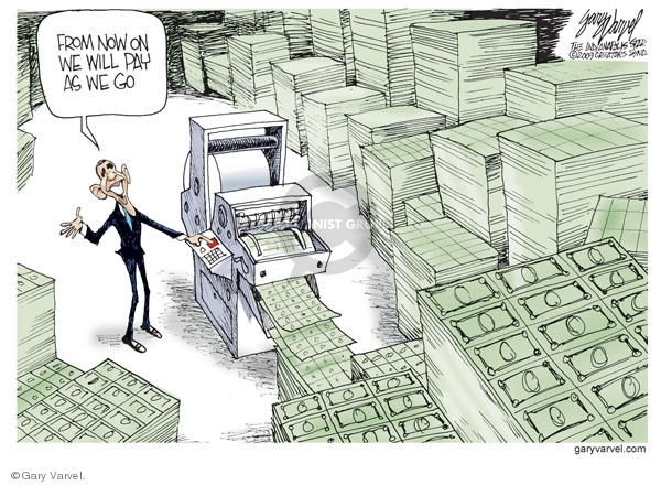 Cartoonist Gary Varvel  Gary Varvel's Editorial Cartoons 2009-06-12 Obama economy