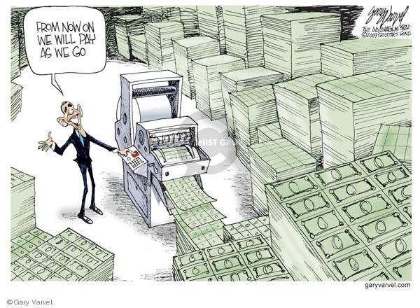 Gary Varvel  Gary Varvel's Editorial Cartoons 2009-06-12 federal budget