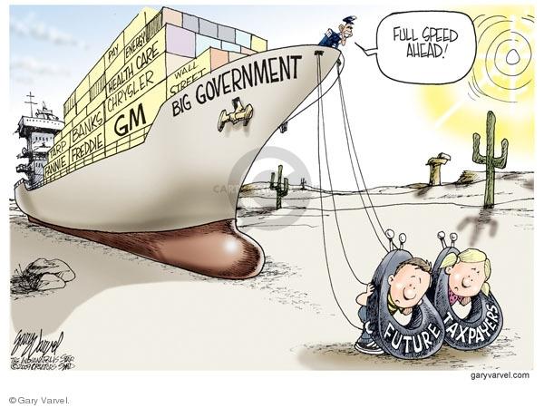 Gary Varvel  Gary Varvel's Editorial Cartoons 2009-06-16 federal budget
