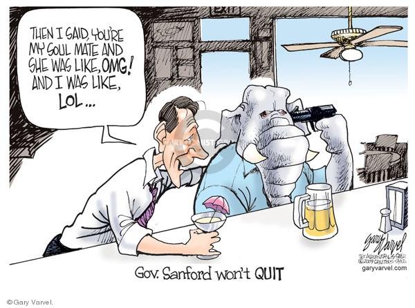 Cartoonist Gary Varvel  Gary Varvel's Editorial Cartoons 2009-07-06 relationship