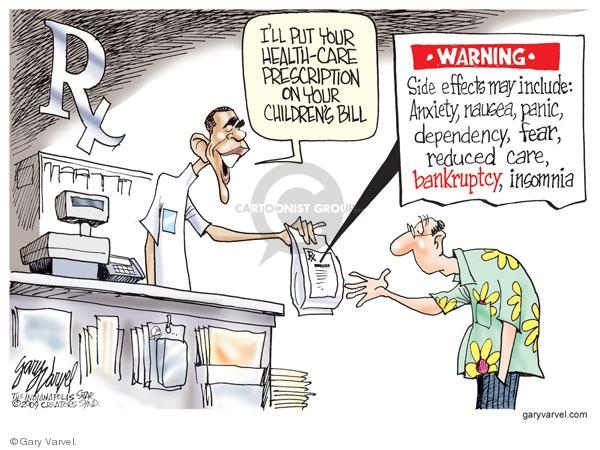 Gary Varvel  Gary Varvel's Editorial Cartoons 2009-07-08 medication
