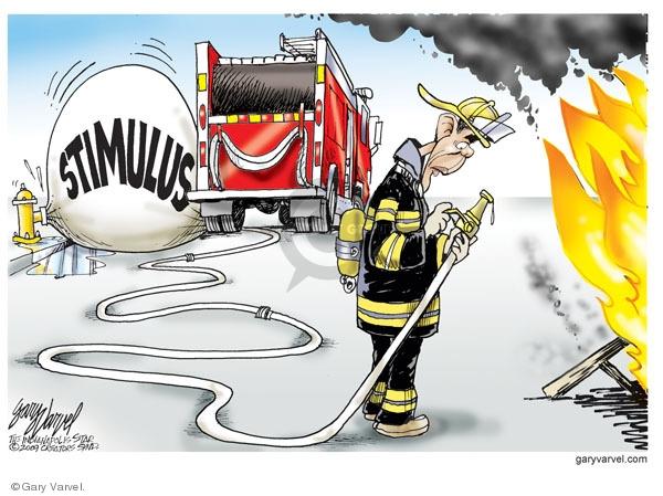 Cartoonist Gary Varvel  Gary Varvel's Editorial Cartoons 2009-07-09 economy