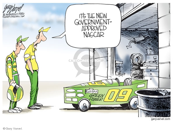 Its the new government-approved NASCAR. Green power. 09.