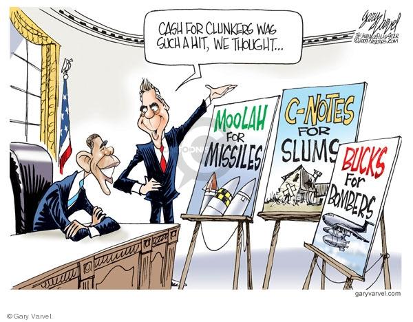 Gary Varvel  Gary Varvel's Editorial Cartoons 2009-08-03 missile