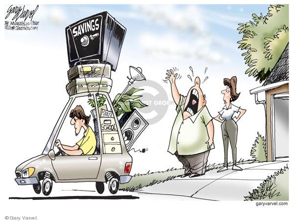 Cartoonist Gary Varvel  Gary Varvel's Editorial Cartoons 2009-08-14 personal finance