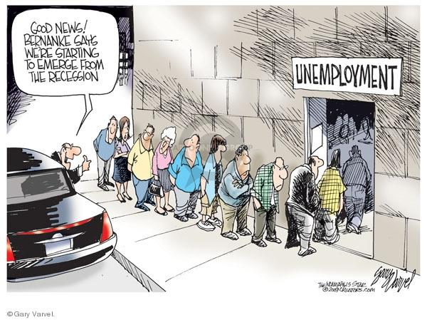 Cartoonist Gary Varvel  Gary Varvel's Editorial Cartoons 2009-08-24 recession
