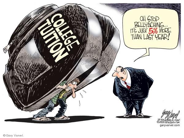 Cartoonist Gary Varvel  Gary Varvel's Editorial Cartoons 2009-08-25 college education