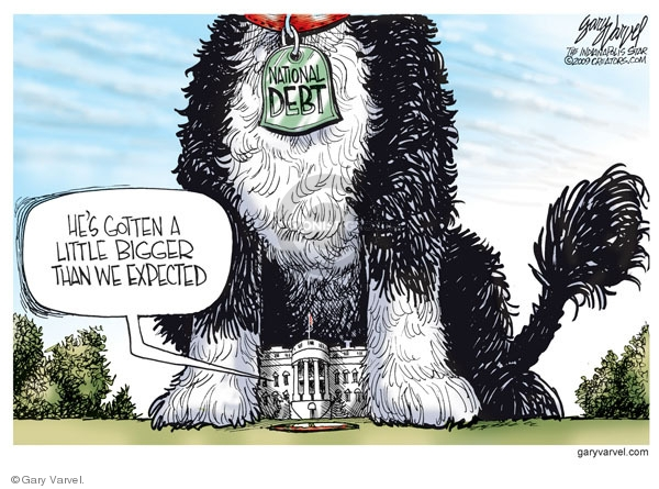 Cartoonist Gary Varvel  Gary Varvel's Editorial Cartoons 2009-08-26 Obama economy