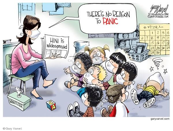 Cartoonist Gary Varvel  Gary Varvel's Editorial Cartoons 2009-08-28 flu