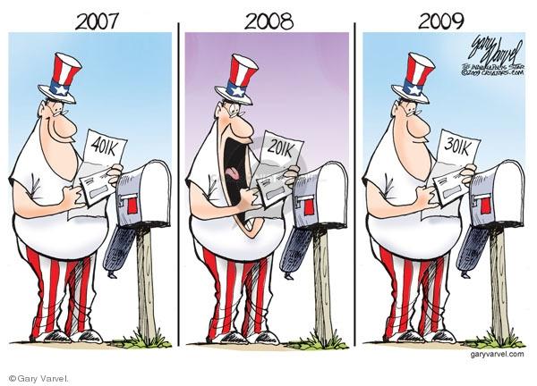 Cartoonist Gary Varvel  Gary Varvel's Editorial Cartoons 2009-09-03 economy