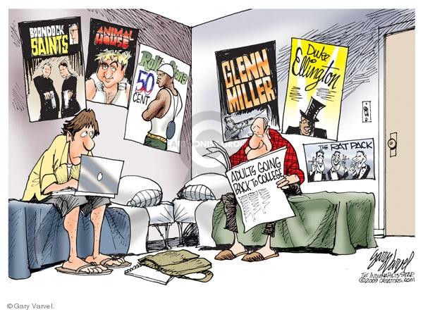 Cartoonist Gary Varvel  Gary Varvel's Editorial Cartoons 2009-09-14 college education