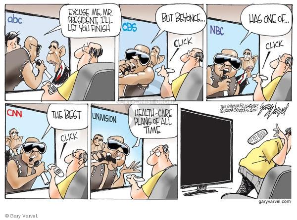 Cartoonist Gary Varvel  Gary Varvel's Editorial Cartoons 2009-09-21 NBC