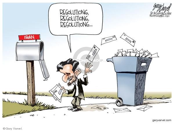 Gary Varvel  Gary Varvel's Editorial Cartoons 2009-09-27 Mahmoud Ahmadinejad