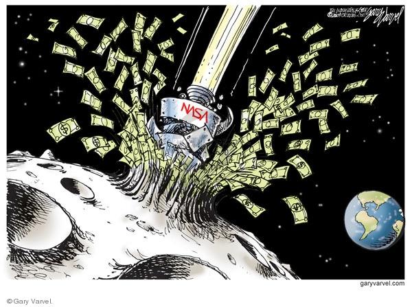 Cartoonist Gary Varvel  Gary Varvel's Editorial Cartoons 2009-10-13 dollar