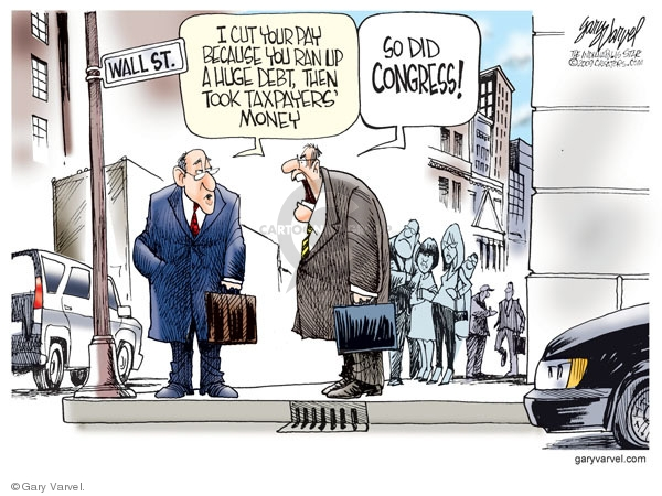 Cartoonist Gary Varvel  Gary Varvel's Editorial Cartoons 2009-10-23 Wall Street
