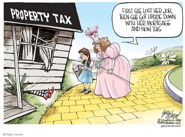Cartoonist Gary Varvel  Gary Varvel's Editorial Cartoons 2009-10-27 property tax