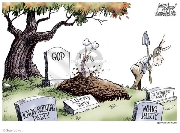 Cartoonist Gary Varvel  Gary Varvel's Editorial Cartoons 2009-11-05 GOP