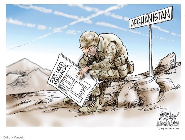 Cartoonist Gary Varvel  Gary Varvel's Editorial Cartoons 2009-11-09 Afghanistan