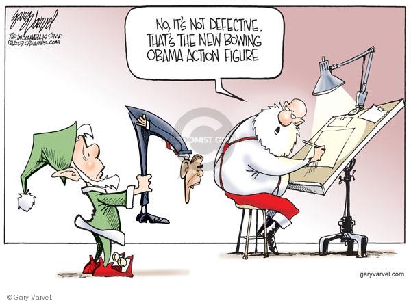 Cartoonist Gary Varvel  Gary Varvel's Editorial Cartoons 2009-11-18 action