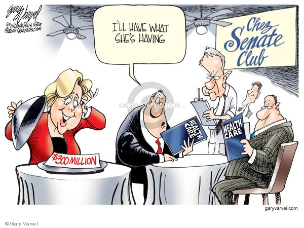 Cartoonist Gary Varvel  Gary Varvel's Editorial Cartoons 2009-11-24 congress health care