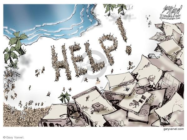 Cartoonist Gary Varvel  Gary Varvel's Editorial Cartoons 2010-01-16 tragedy