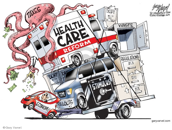 Cartoonist Gary Varvel  Gary Varvel's Editorial Cartoons 2010-01-17 Obama economy
