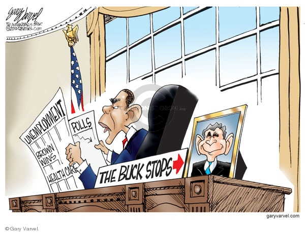 Cartoonist Gary Varvel  Gary Varvel's Editorial Cartoons 2010-01-26 George W. Bush