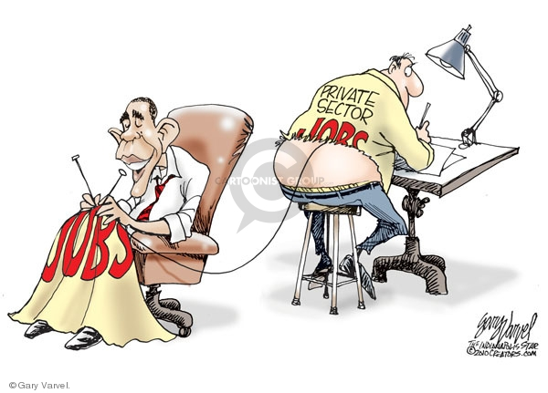 Cartoonist Gary Varvel  Gary Varvel's Editorial Cartoons 2010-02-03 Obama economy