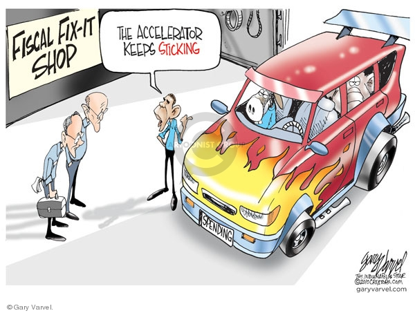 Cartoonist Gary Varvel  Gary Varvel's Editorial Cartoons 2010-02-21 Obama economy