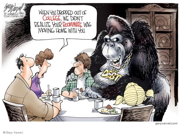 Cartoonist Gary Varvel  Gary Varvel's Editorial Cartoons 2010-03-12 college education