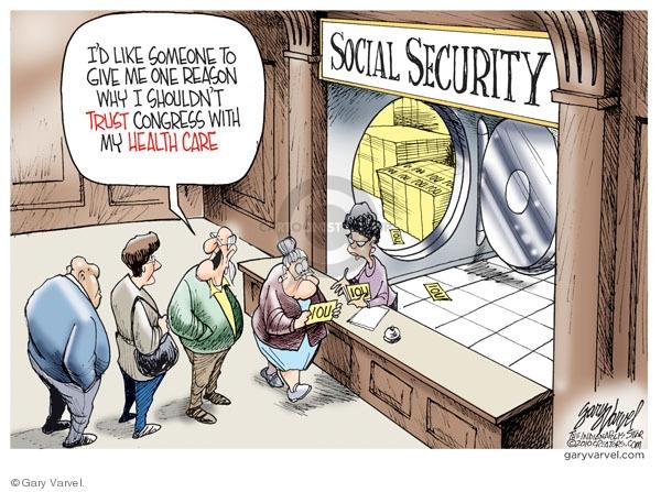 Cartoonist Gary Varvel  Gary Varvel's Editorial Cartoons 2010-03-19 social security