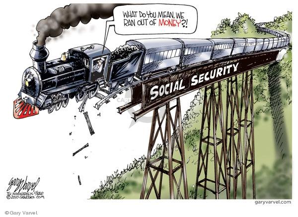 Cartoonist Gary Varvel  Gary Varvel's Editorial Cartoons 2010-03-28 social security