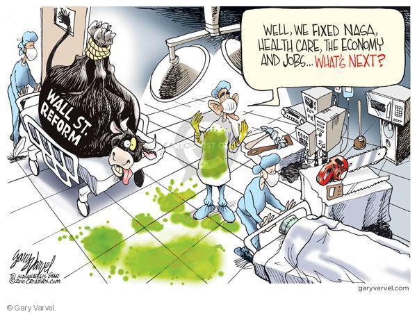 Cartoonist Gary Varvel  Gary Varvel's Editorial Cartoons 2010-04-21 Wall Street