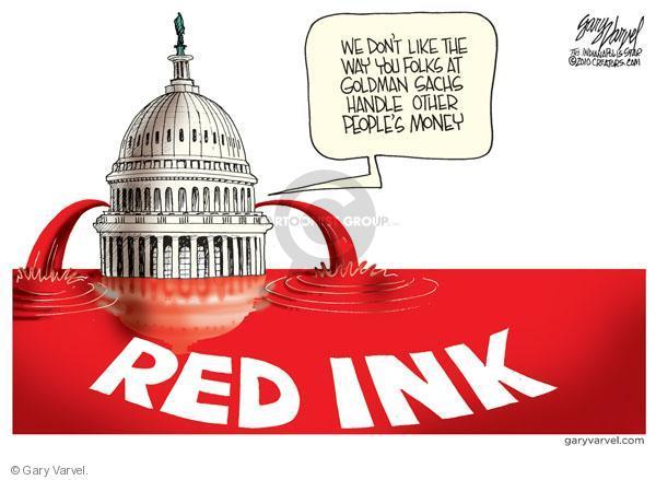 Cartoonist Gary Varvel  Gary Varvel's Editorial Cartoons 2010-04-28 red ink