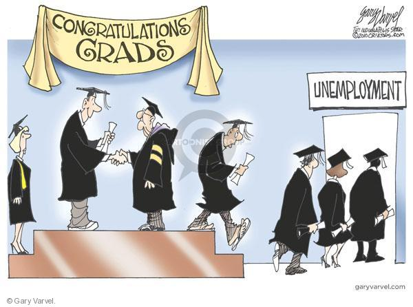 Cartoonist Gary Varvel  Gary Varvel's Editorial Cartoons 2010-05-10 graduate