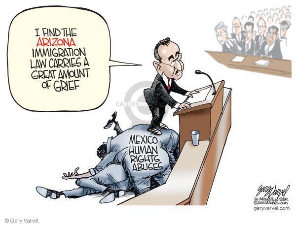Cartoonist Gary Varvel  Gary Varvel's Editorial Cartoons 2010-05-21 abuse