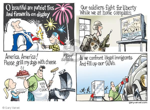 Cartoonist Gary Varvel  Gary Varvel's Editorial Cartoons 2010-07-04 independence