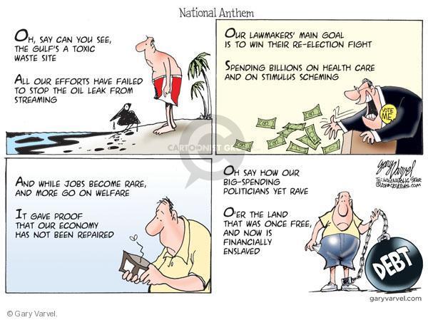 Cartoonist Gary Varvel  Gary Varvel's Editorial Cartoons 2010-07-05 land