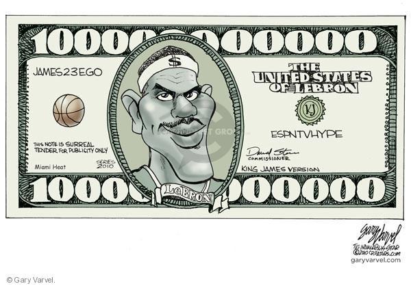 Cartoonist Gary Varvel  Gary Varvel's Editorial Cartoons 2010-07-09 dollar