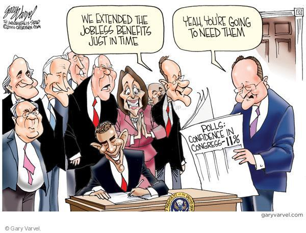 Cartoonist Gary Varvel  Gary Varvel's Editorial Cartoons 2010-07-23 Obama economy